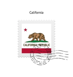 State of california flag postage stamp vector