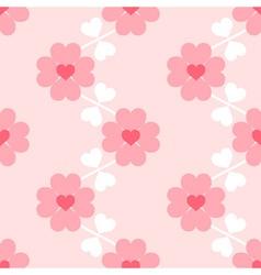 Heart flower soft seamless wallpaper vector