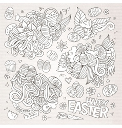 Easter symbols and objects vector