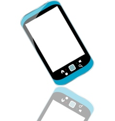 Modern smart phone for mobile communication with vector