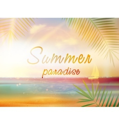 Summer time background with copyspace vector