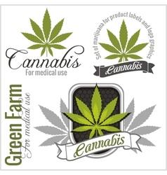 Marijuana - cannabis for medical use set vector