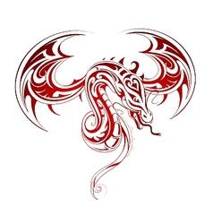Dragon tattoo vector