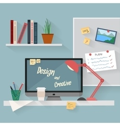 Business and home workplace vector