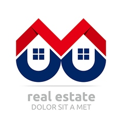 Logo real estate buiding architecture housing icon vector