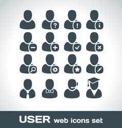 User web icons set vector