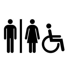 Toilet wc restroom sign vector