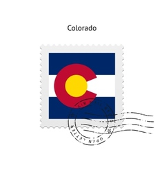 State of colorado flag postage stamp vector