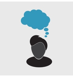 Thoughts icon vector