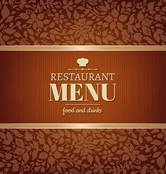 Cafe and restaurant menu vector