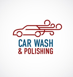Car wash and polishing logo template vector