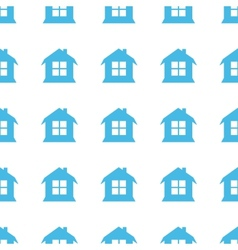Unique house seamless pattern vector