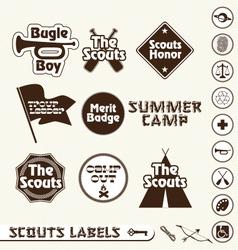 Boy scouts labels vector
