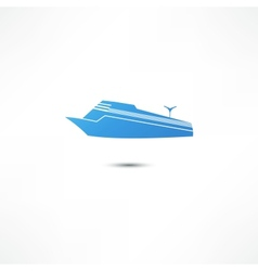 Liner marine icon vector