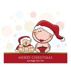 Merrychristmas girl vector