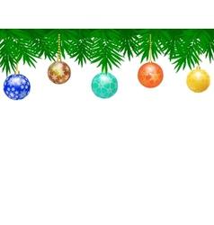Border from christmas balls vector