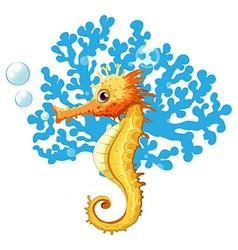 A seahorse underwater vector