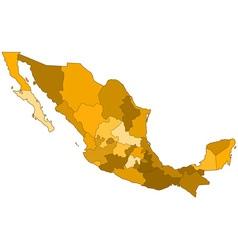 Mexico contour map vector