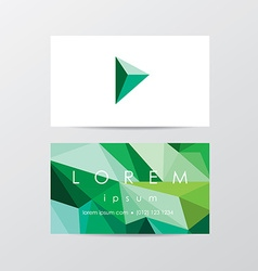Business card stationary template vector