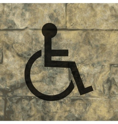 Disabled flat modern web button and space for your vector