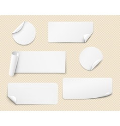 White stickers vector