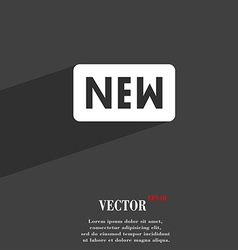New icon symbol flat modern web design with long vector