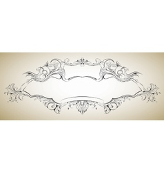 Frame with floral elements for registration 6 vector
