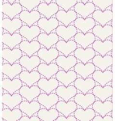 Pink seamless pattern with hearts vector
