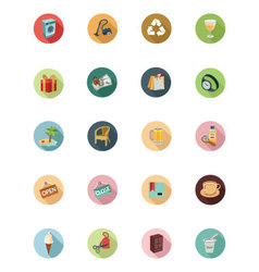 Shopping flat colored icons 4 vector