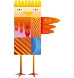 Colorful bird vector