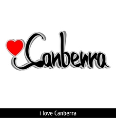 Canberra greetings hand lettering calligraphy vector