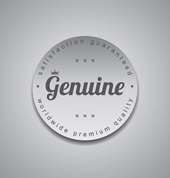 Genuine label vector