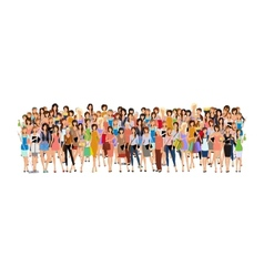 Group of woman vector