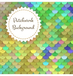 Textured background of round patches vector