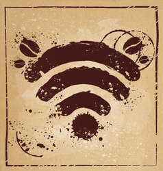 Coffee wifi vector