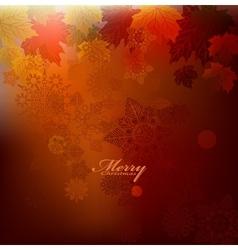 Beauty christmas card background vector