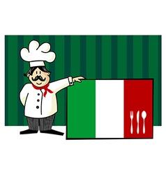 Chef of italian cuisine vector
