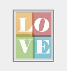 Love concept typographical poster vector
