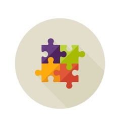 Solution creativity puzzle flat icon vector