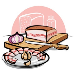 Pork lard vector