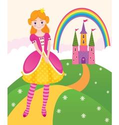 Princess fairy kingdom vector