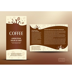 Brochure folder card coffee liquid vector