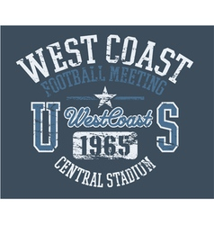 West coast athletics vector