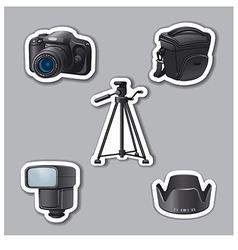 Photography equipment stickers vector