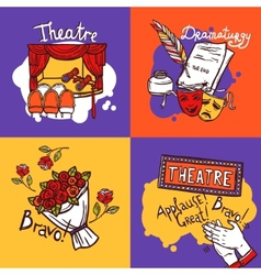 Theater design concept vector