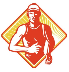 Marathon runner icon vector
