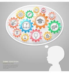Education thinking conceptual vector