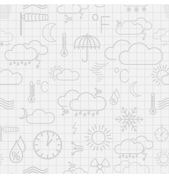 Seamless pattern of weather symbols vector