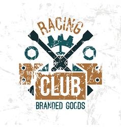 Car racing club emblem vector