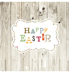 Easter card wooden backdrop vector